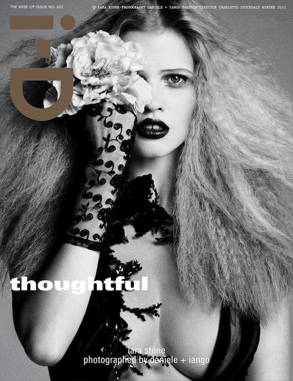 i-D cover Lara Stone via Models.com