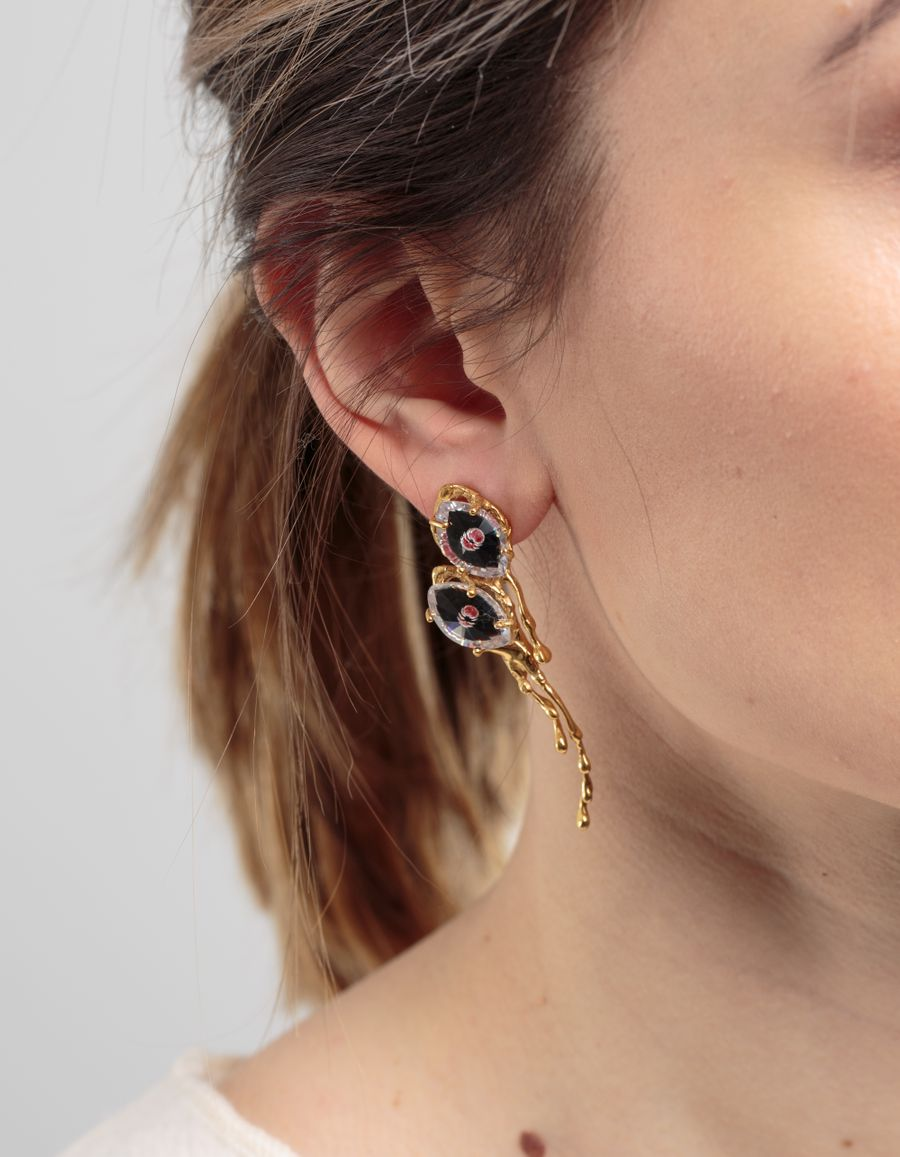 Yukie Deuxpoints - Double Crying Eye Long Earring