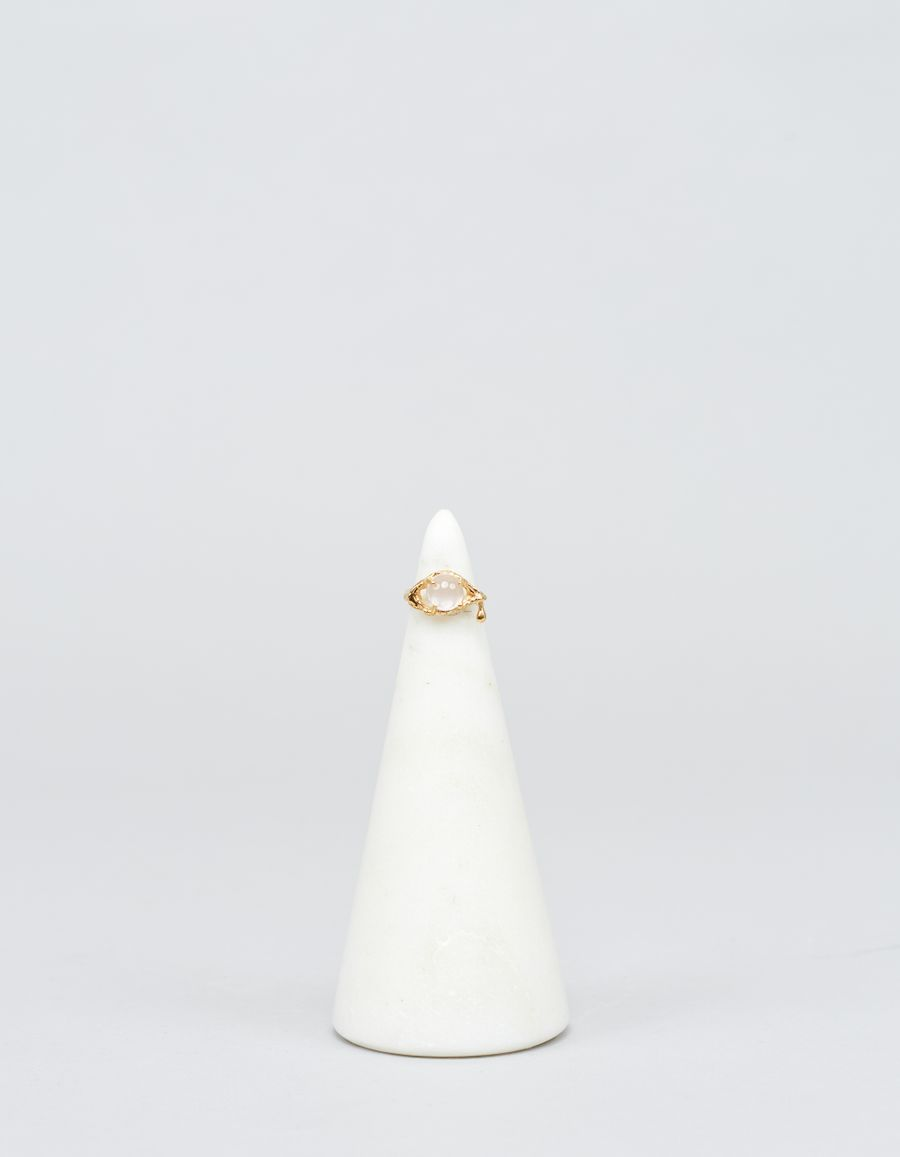 Yukie Deuxpoints Clear Crying Eye Ring
