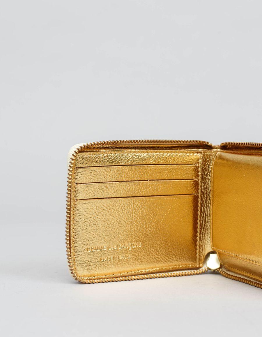 Comme des Garçons Wallet - Full Zip Small Wallet - Logo