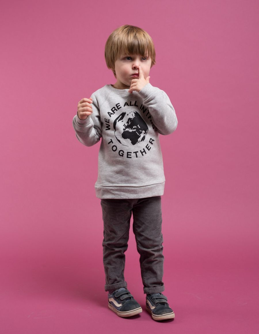 We Are All In This Together  Print Sweatshirt Mini