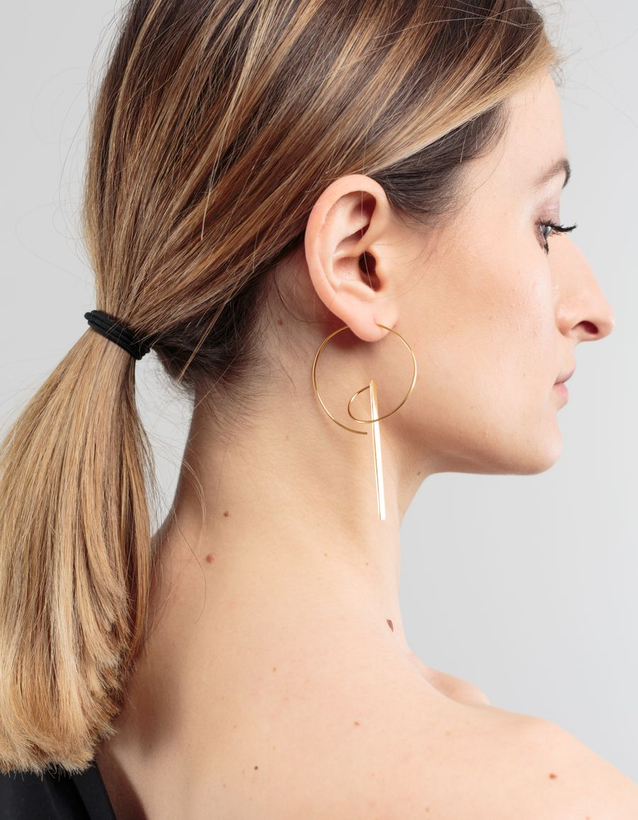 Sofia Eriksson Hoop & Bar Single Earring