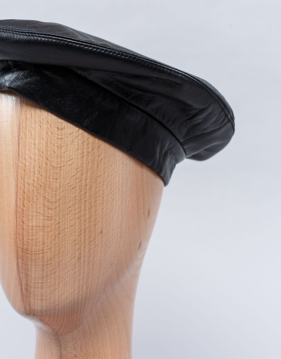 Clyde - Leather Beret