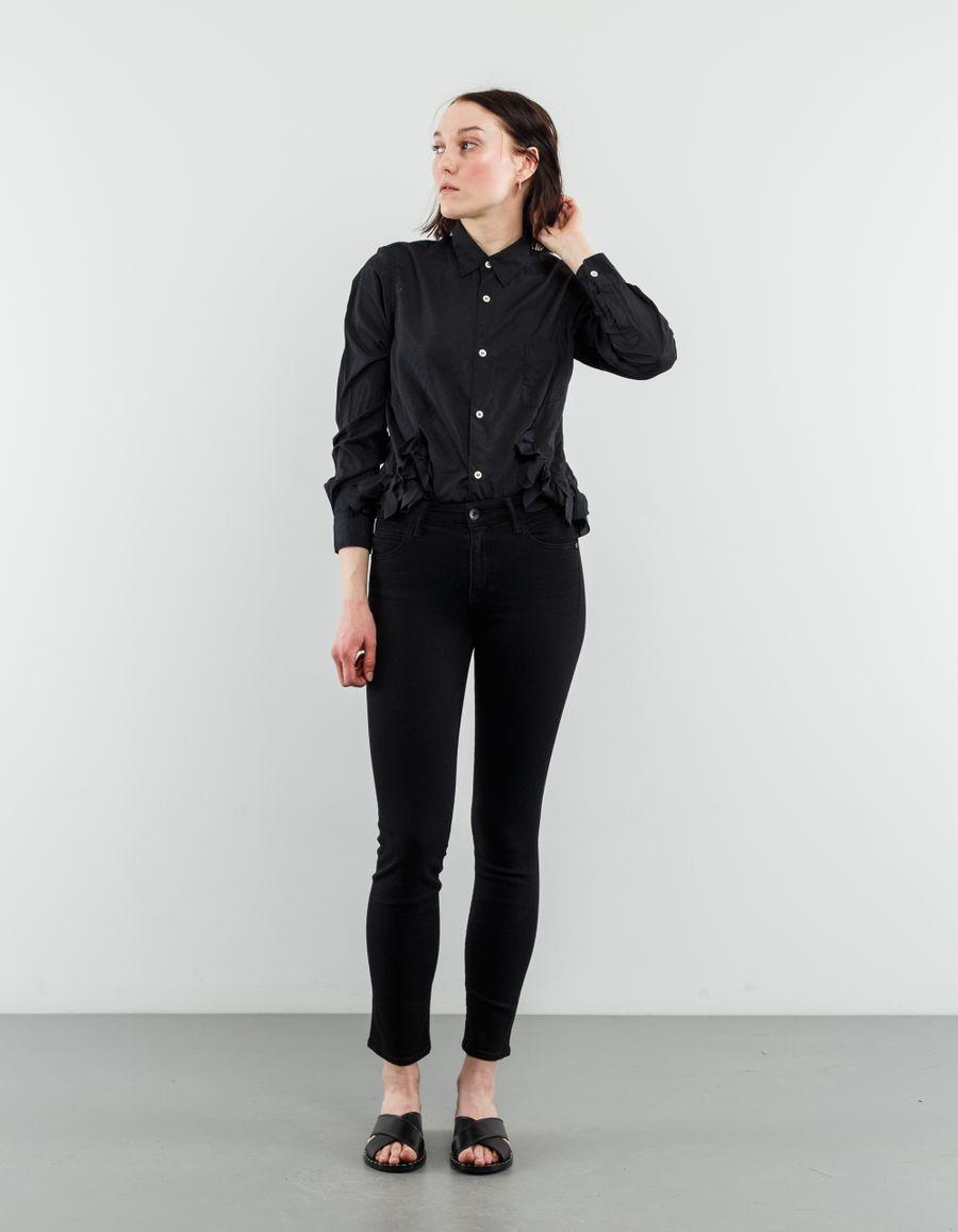 Helmut Lang Ankle Crop Skinny Jeans