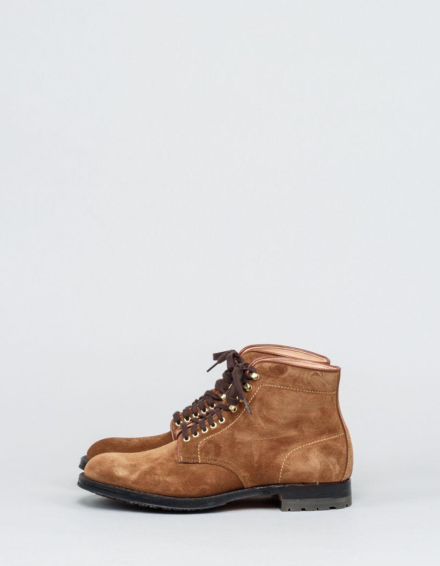 Alden Plain Toe Suede Boot Commando