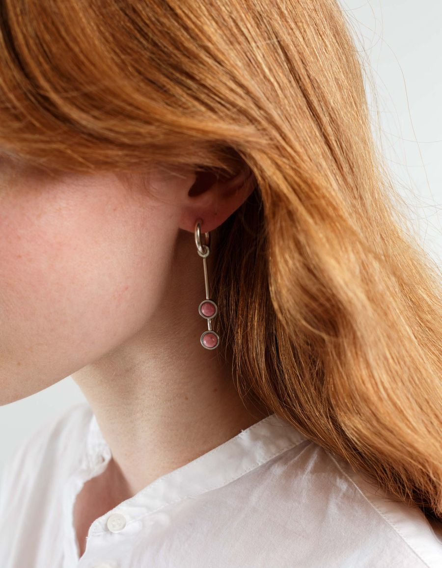 Quarry Jewelry Bas Double Earrings
