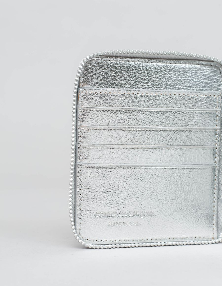 Comme des Garçons Wallet - Full Zip Wallet - Logo