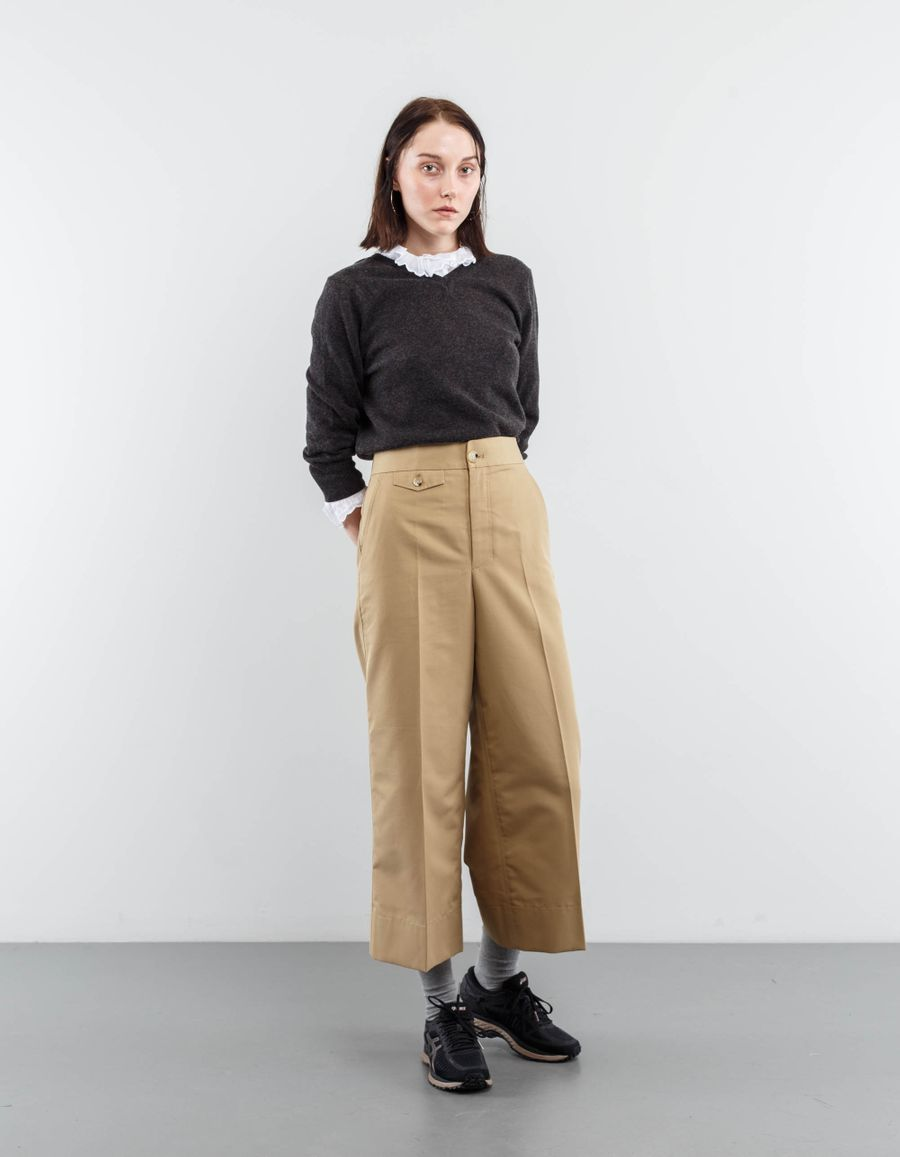 Helmut Lang Wide Cropped Pant
