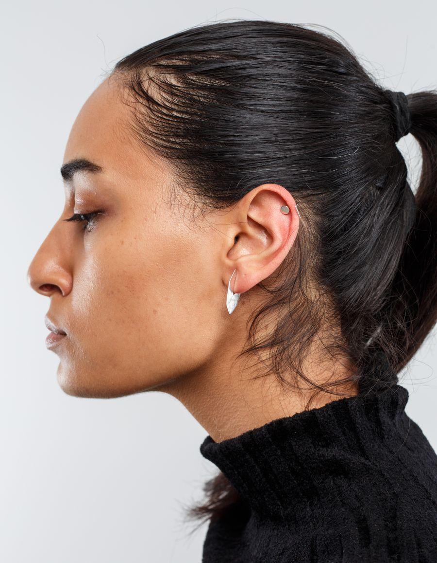 Sansoeurs Hozho Flat Hoop Silver Earring