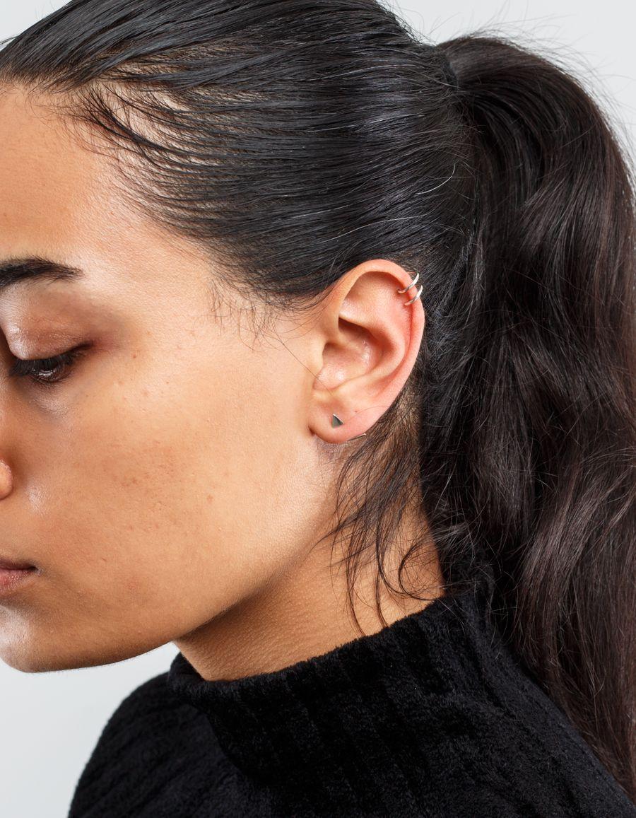 Sansoeurs Triangle Silver Earring