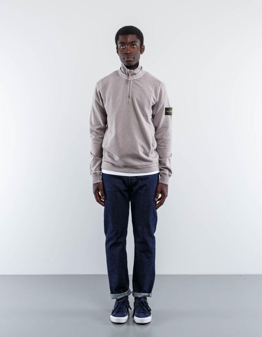 Stone Island Zip Neck Sweatshirt