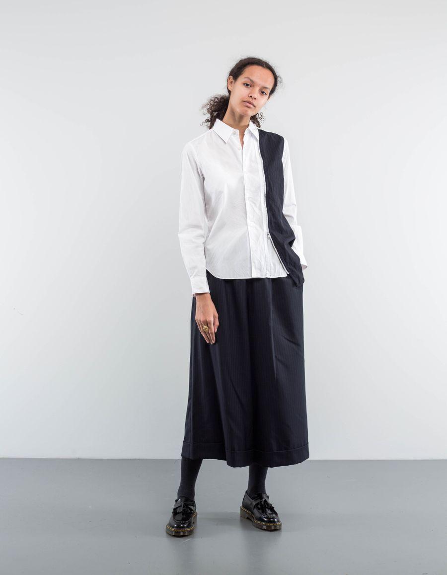 Comme des Garçons Comme des Garçons Deconstructed Shirt w. Zipper