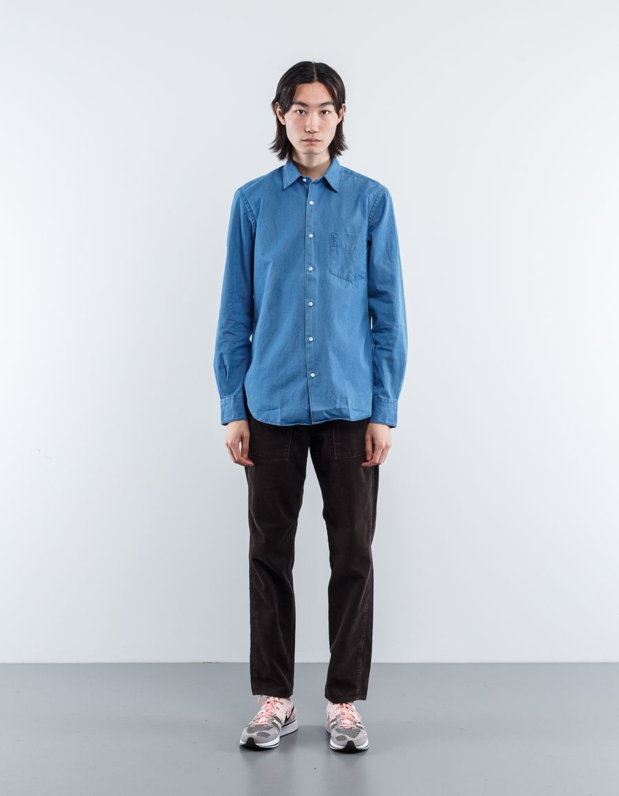 Aspesi Sedici Washed Chambray Shirt