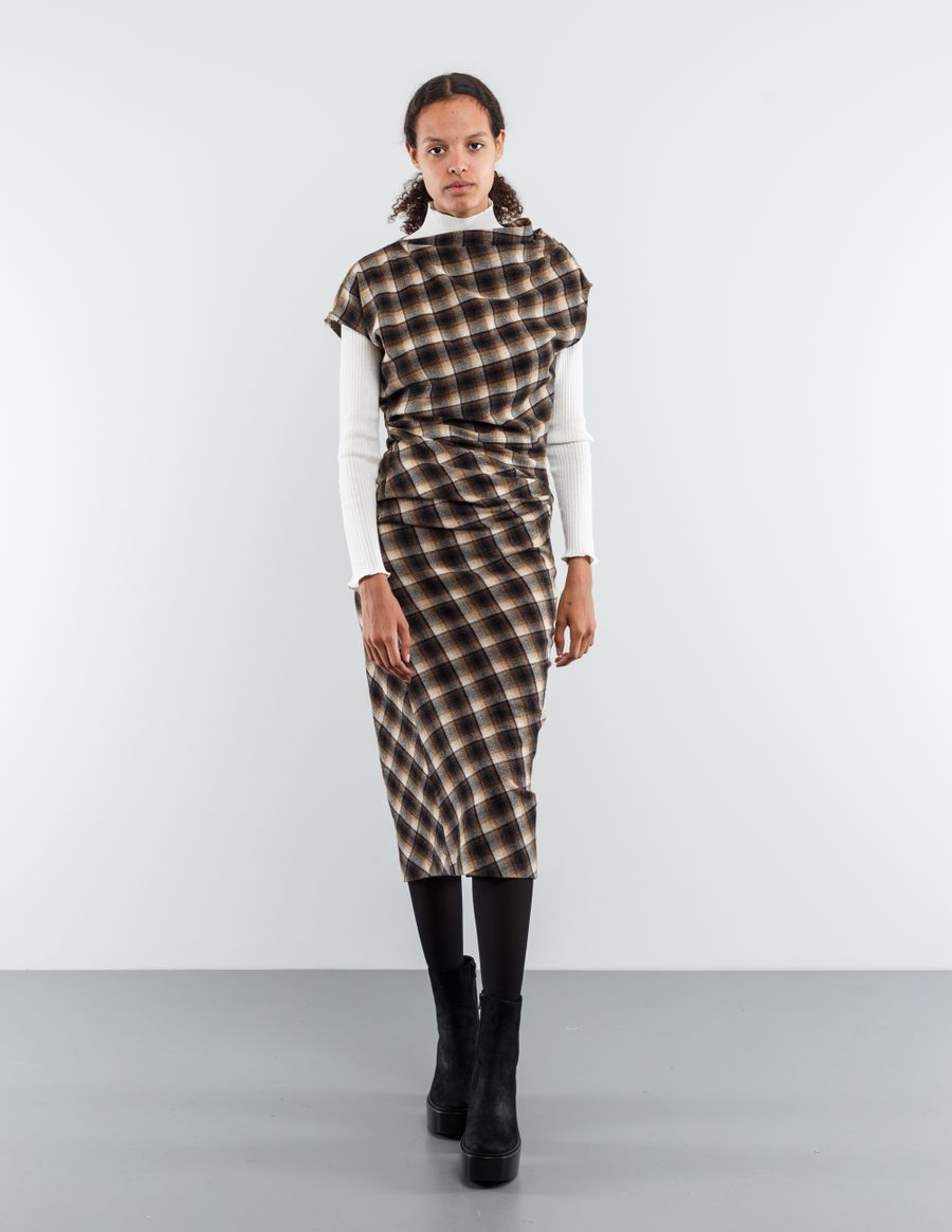 Isabel Marant Étoile Pisa Draped Wool Blend Dress