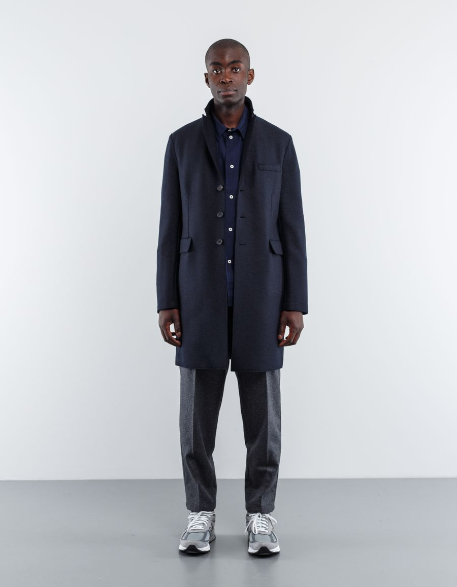 Harris Wharf London Pressed Wool Chester Coat