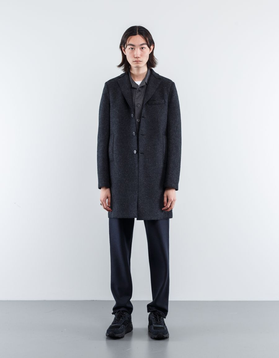 Harris Wharf London Boxy Pressed Wool Coat
