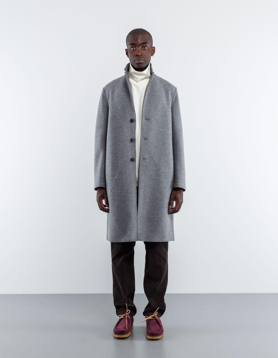 Harris Wharf London Pressed Wool Over Coat