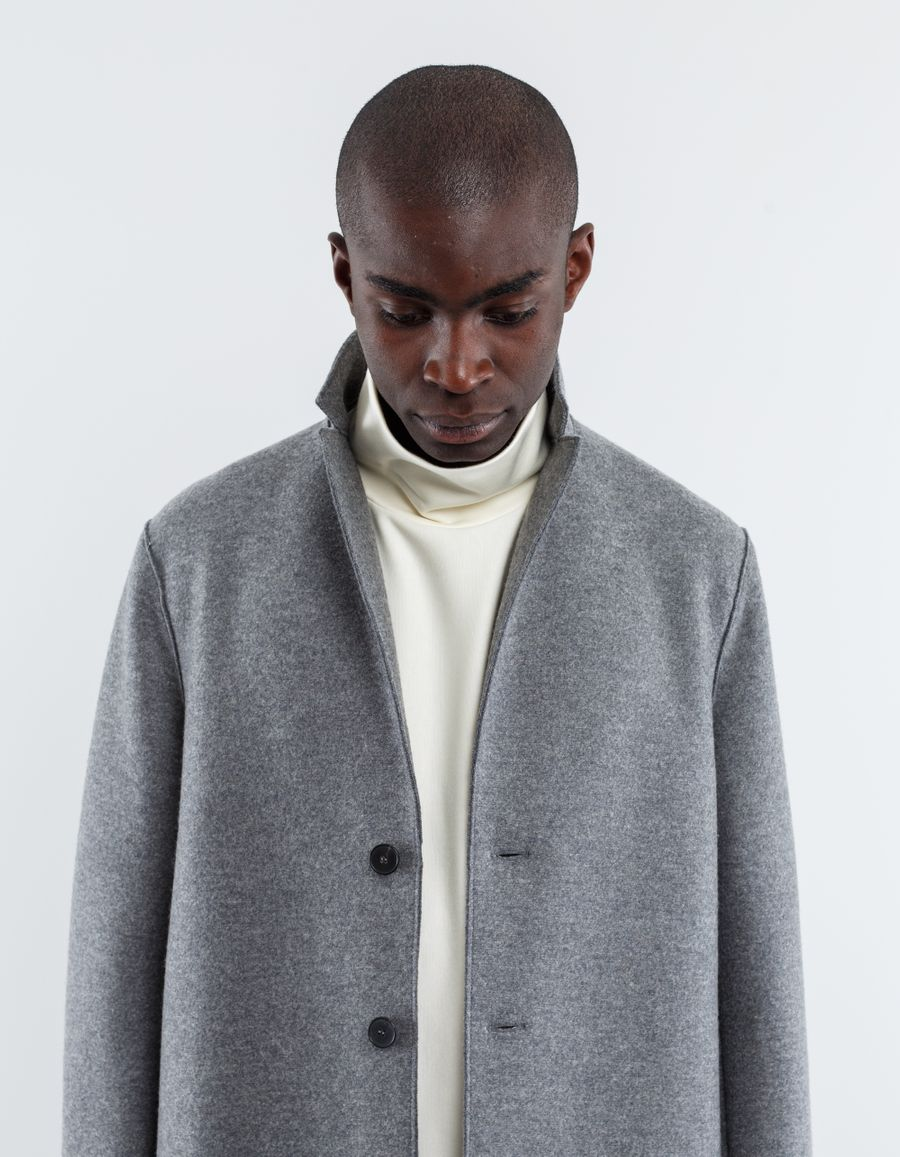 Harris Wharf London - Pressed Wool Over Coat