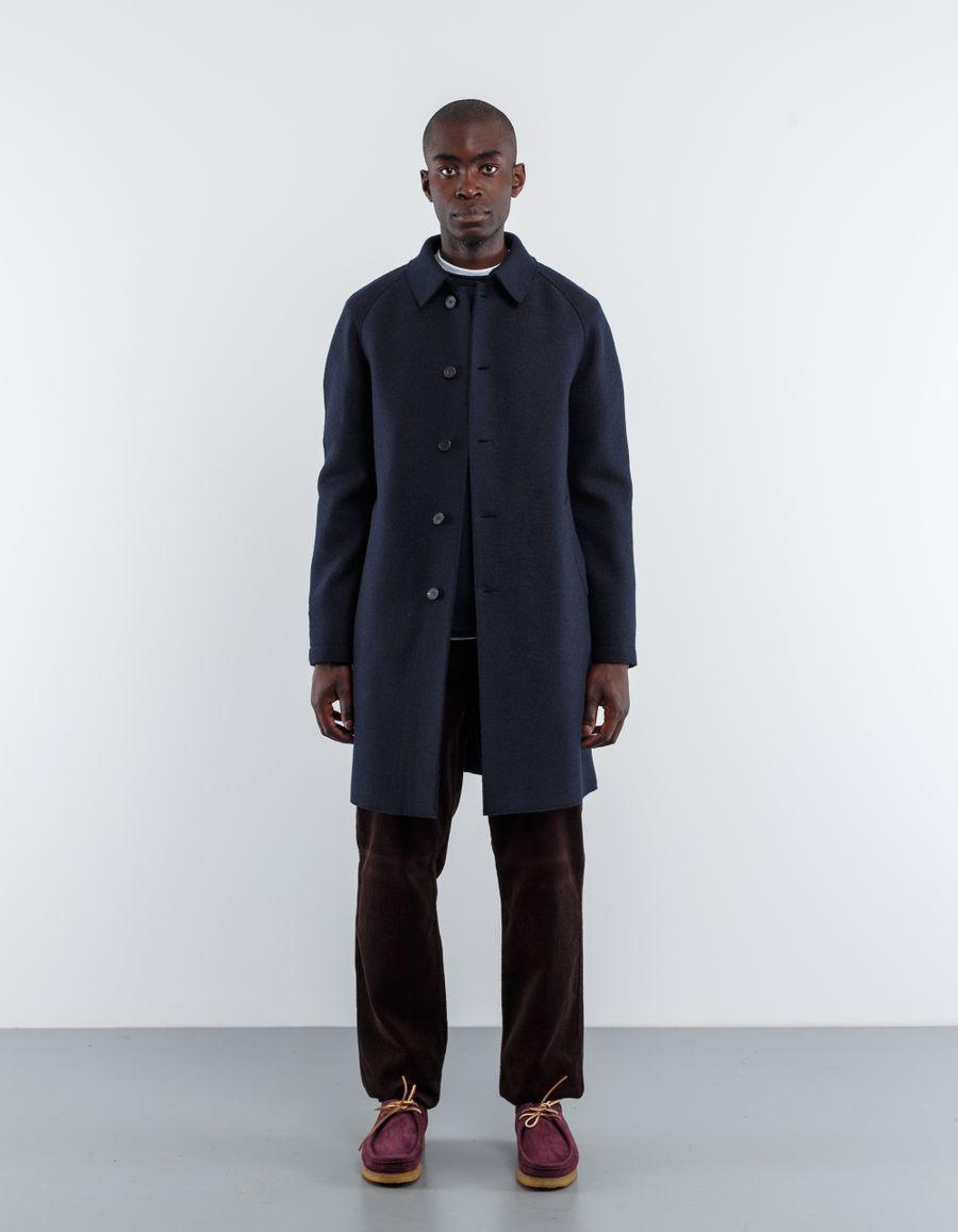 Harris Wharf London Pressed Wool Raglan Mac