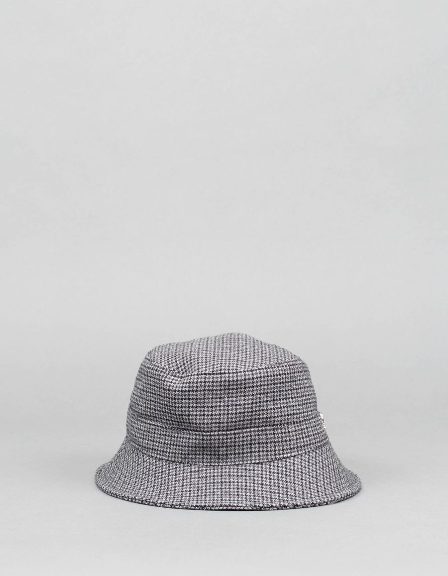 The Gigi  Larose Houndtooth Bucket Hat