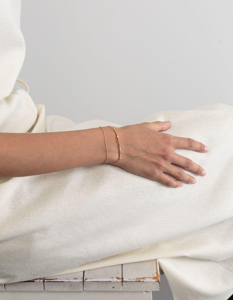 Jane Kønig Goldpl. Pearl Double Bracelet