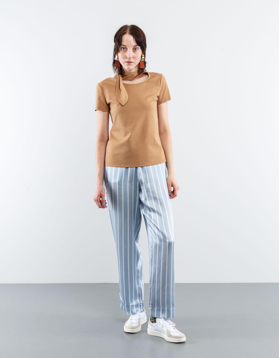 Maryam Nassir Zadeh Phoebe T-Shirt w. Tie Neck