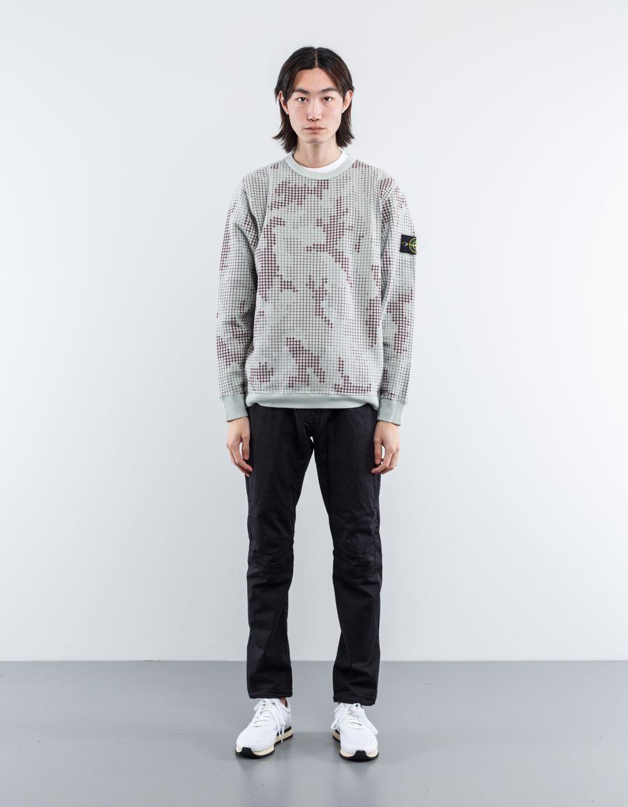 Stone Island 6715635E2 V1097 - SI Grid Check Sweatshirt