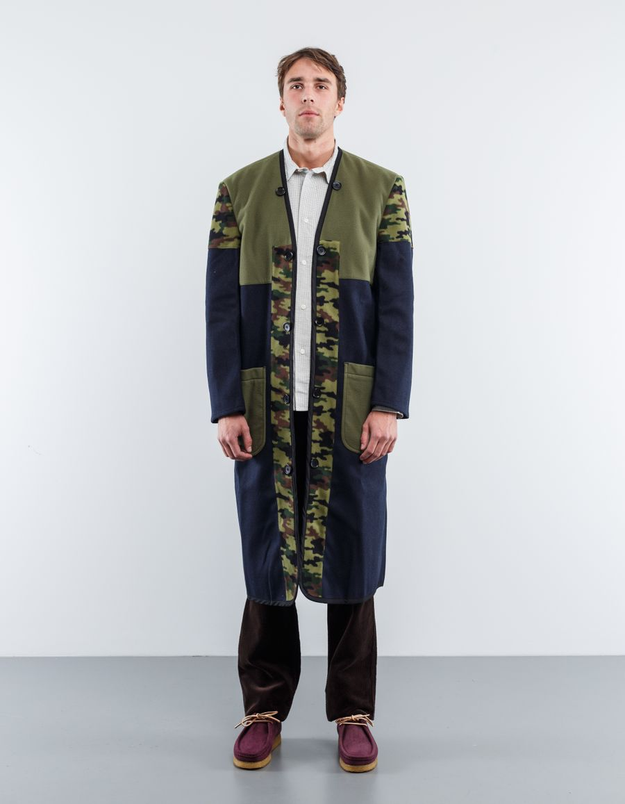 Comme des Garçons SHIRT MIxed Fabric Coat Liner