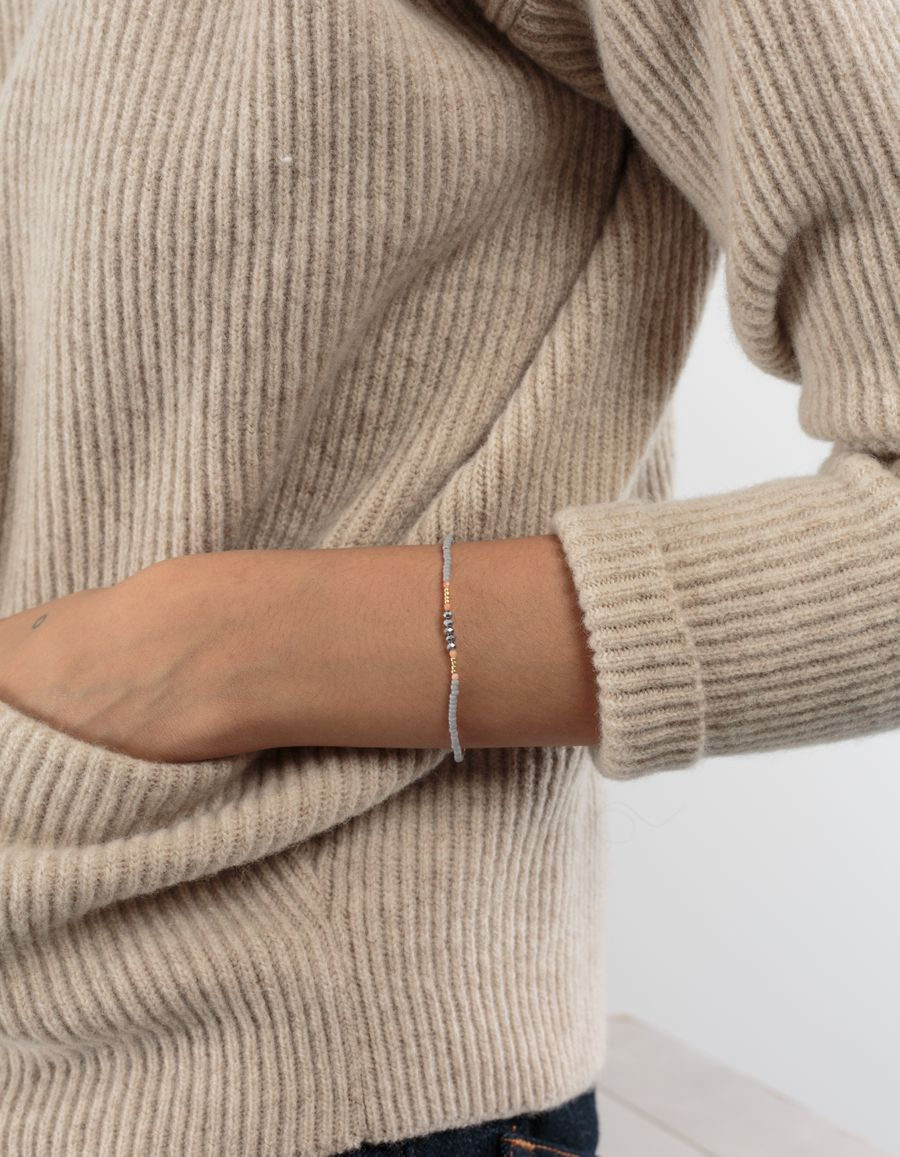 Anni Lu Pearl Bracelet Grey/Pink