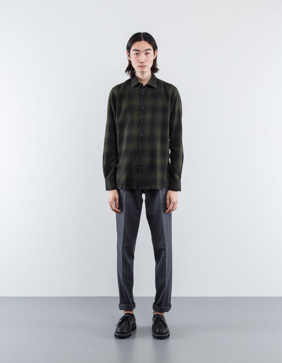 Nitty Gritty Washed Flannel Melange Shirt