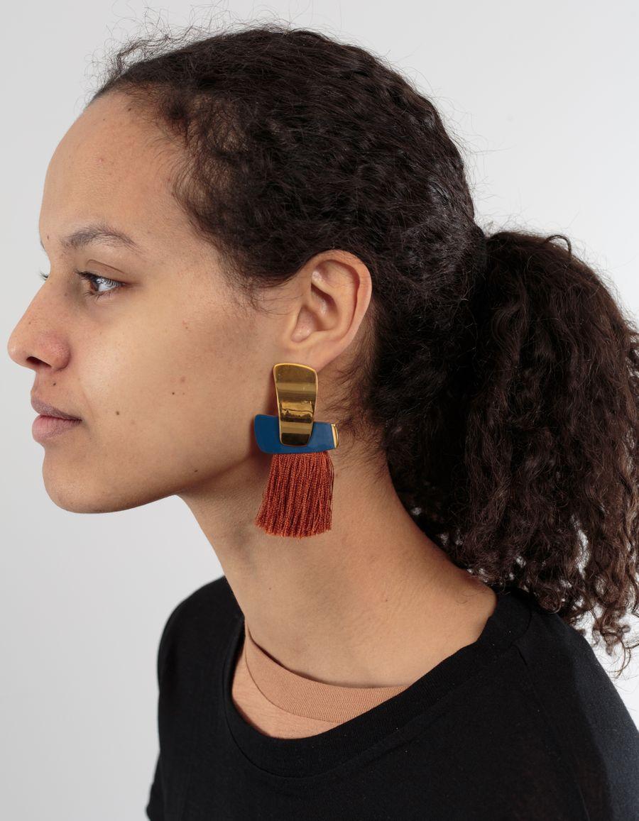 Lizzie Fortunato Totem Tassel Earrings