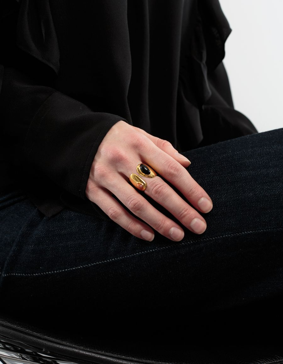 Lizzie Fortunato Arp Ring Black Coral