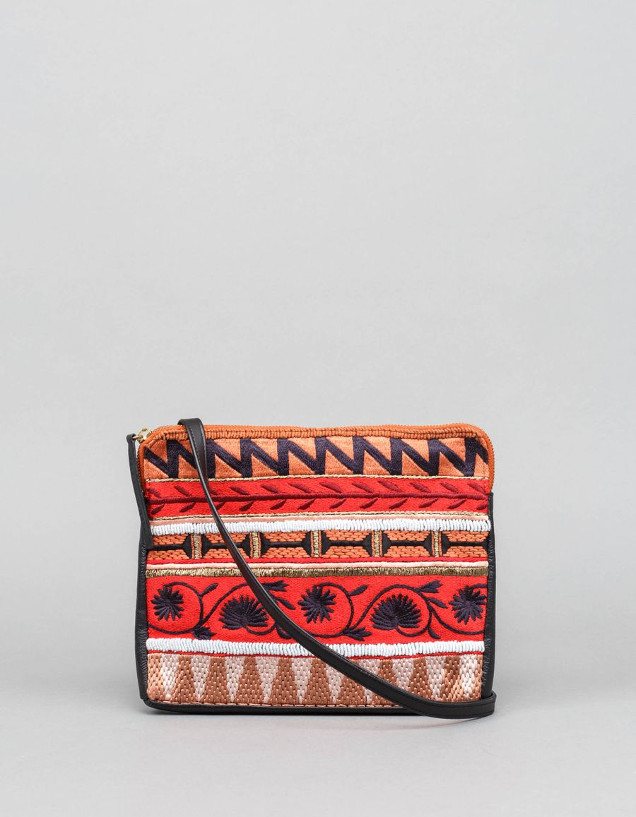 Lizzie Fortunato Safari Clutch Kanga Stripe