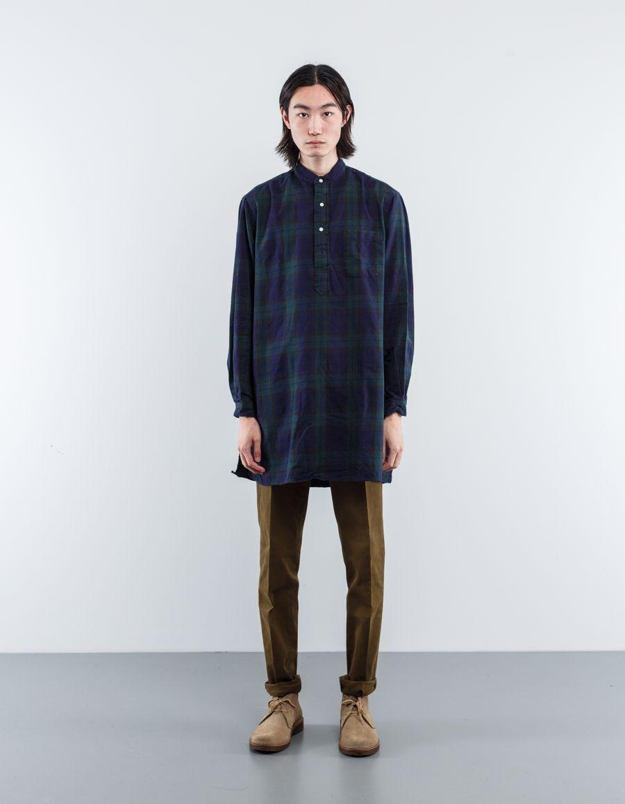 Gitman Vintage BW Mandarin Col. Long Shirt