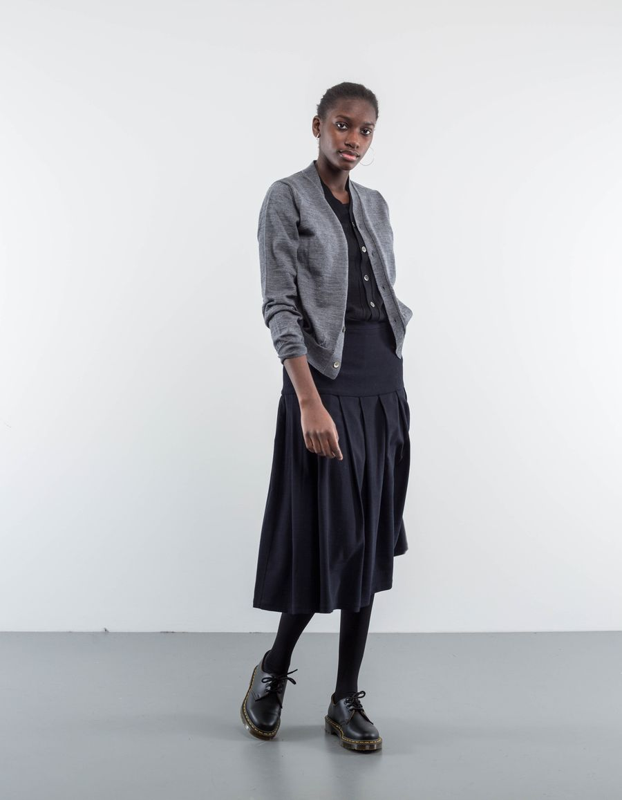 Sara Lanzi Pocket Skirt Stretch Wool
