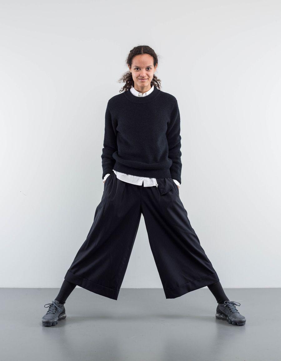Comme des Garçons Comme des Garçons Wool Stripe Culotte Trouser