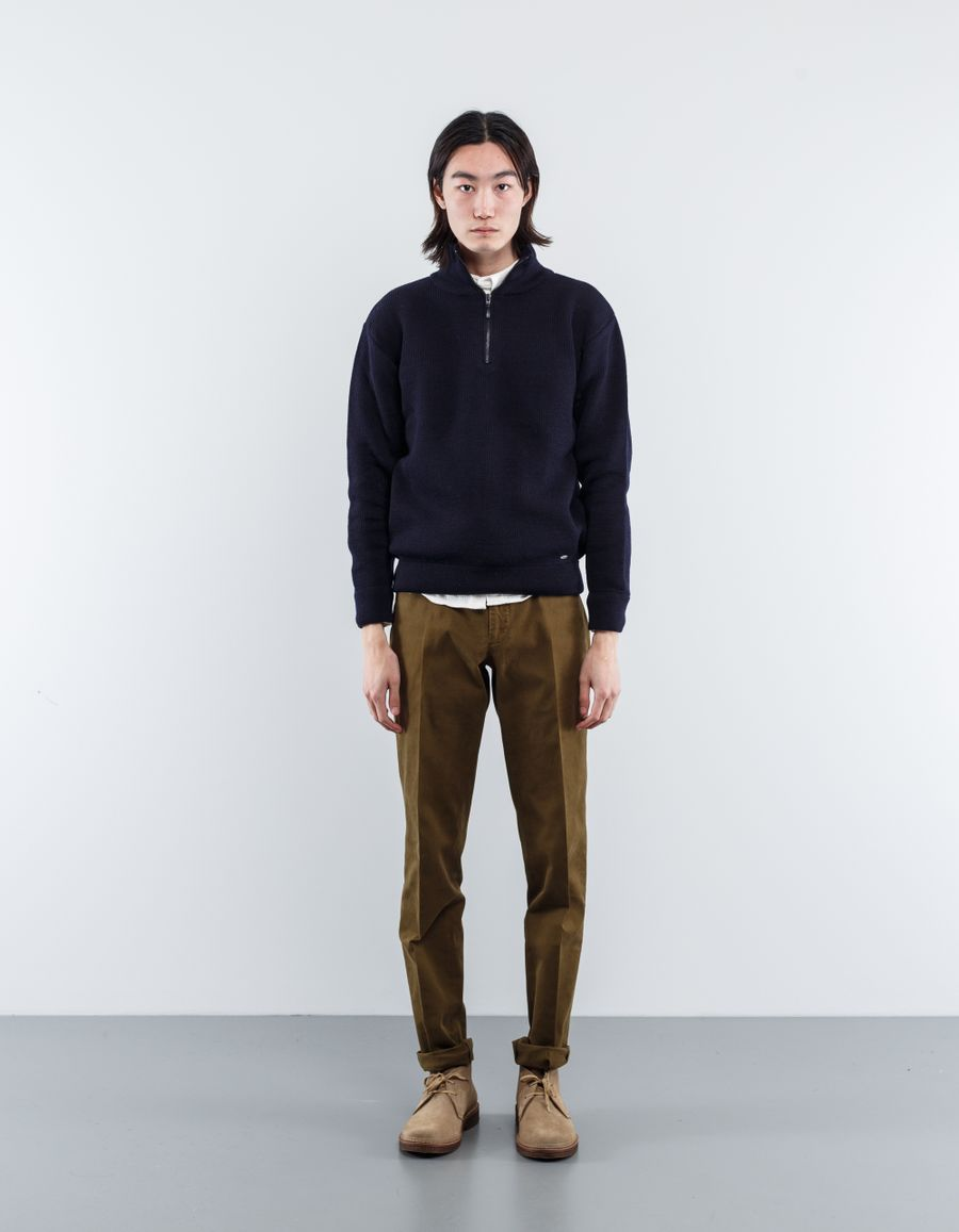 Armor Lux  Chateaulin Zip Neck Sweater