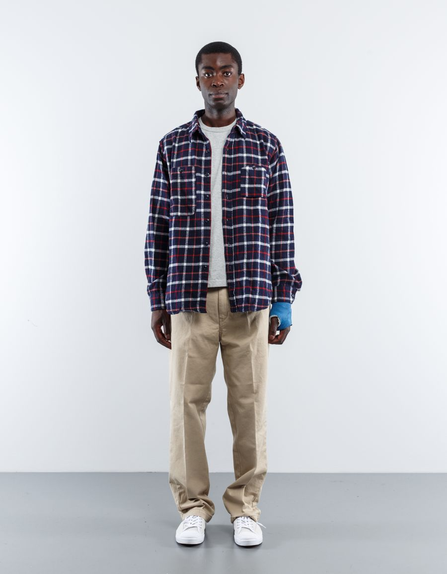 Engineered Garments  Plaid Flannel Work Shirt