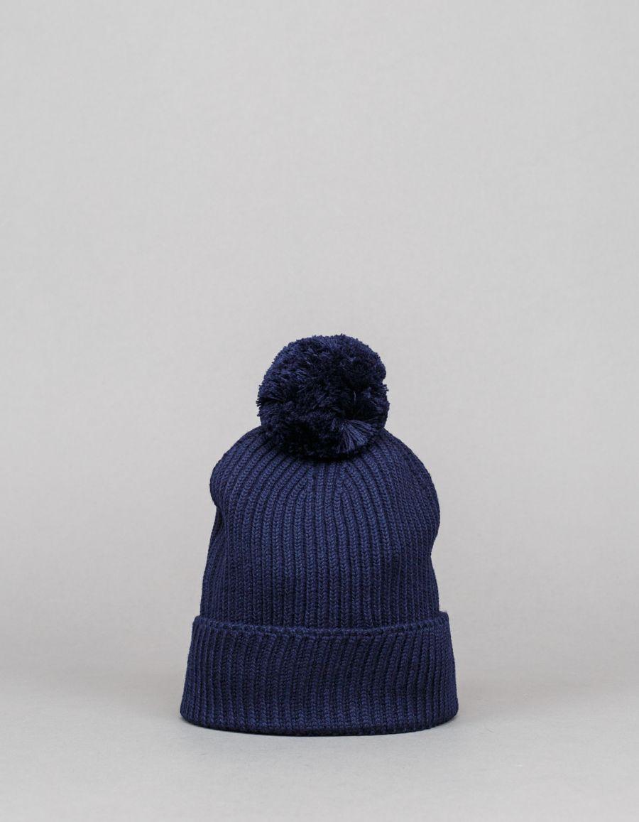 Engineered Garments  Pom Pom Knit Cap Navy