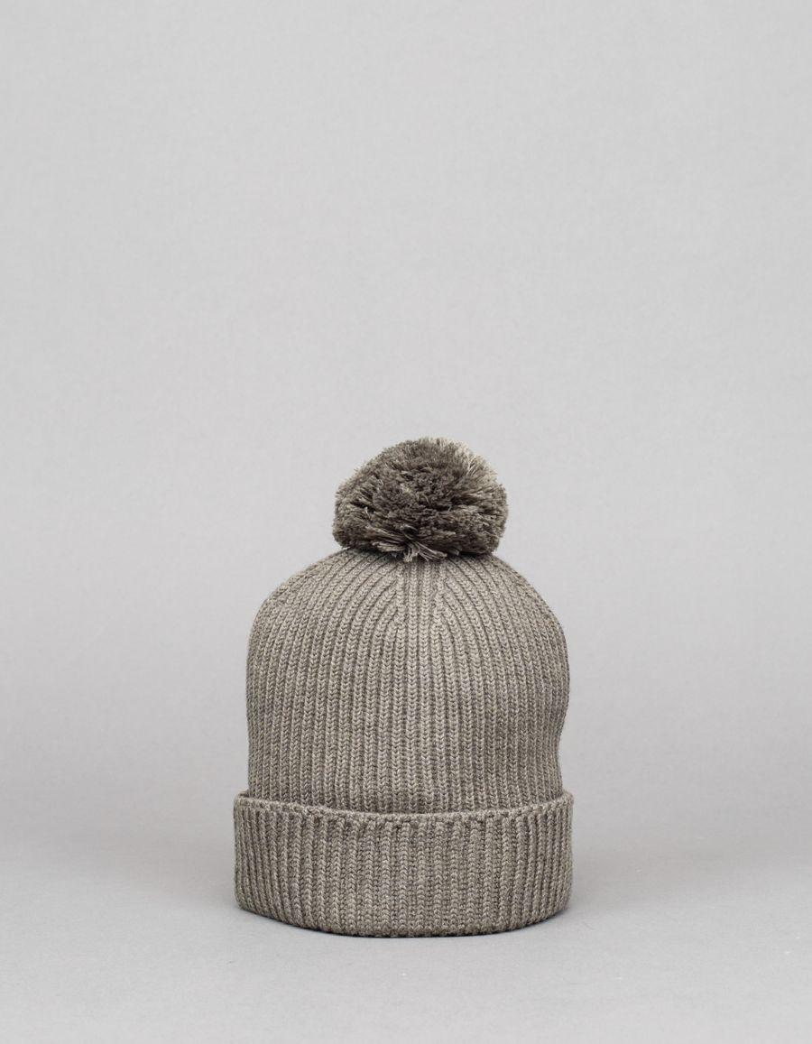 Engineered Garments  Pom Pom Knit Cap Olive