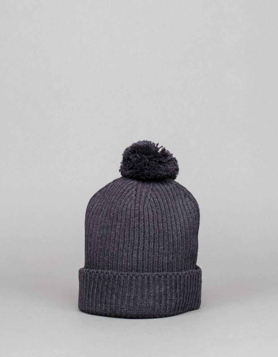 Engineered Garments  Pom Pom Knit Cap Charcoal