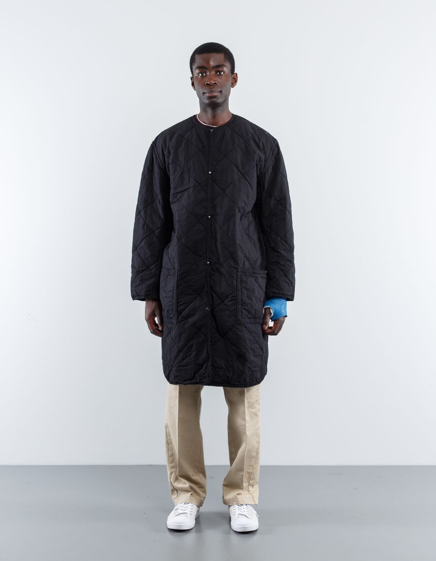 orSlow Quilted No Collar Coat
