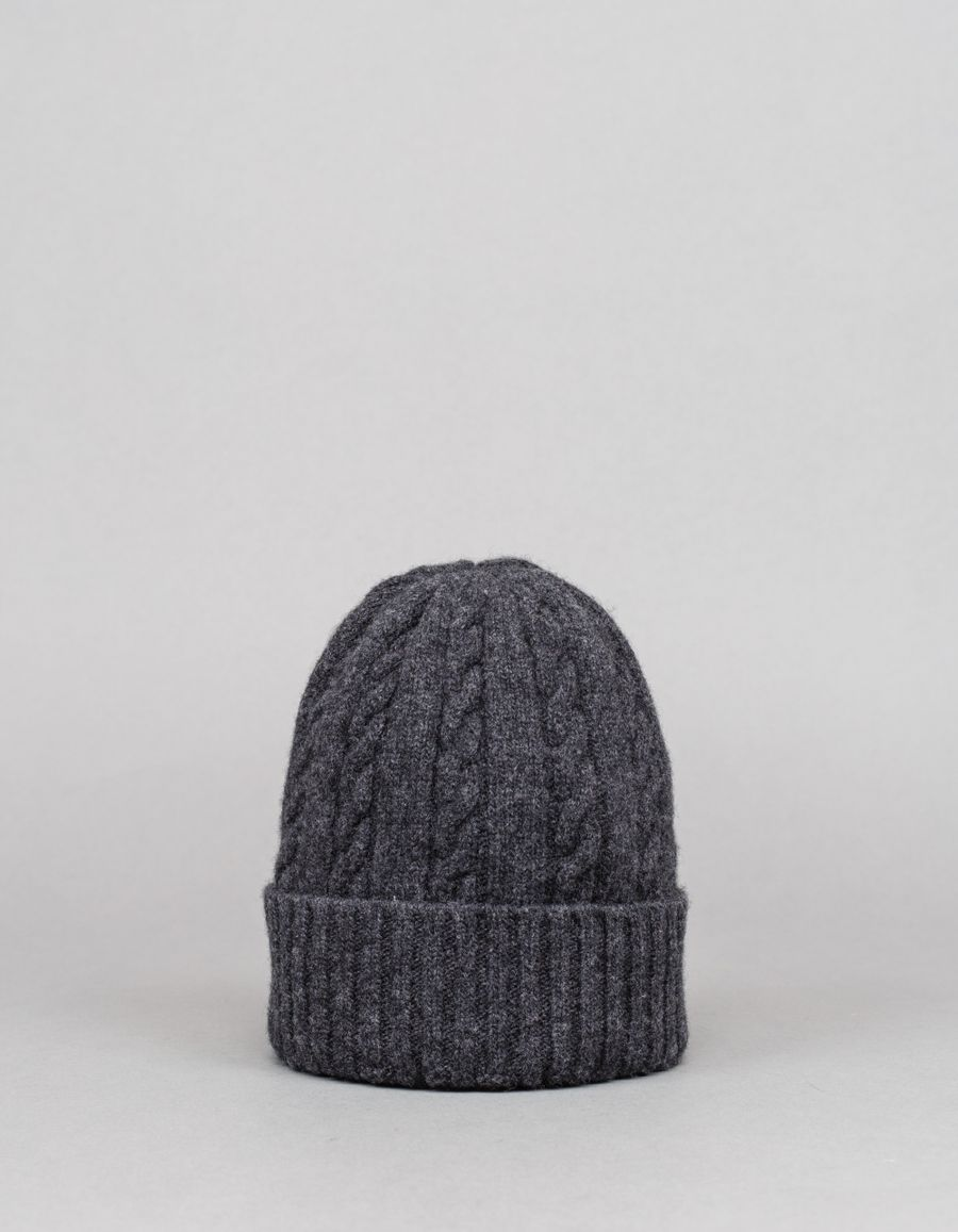 Nitty Gritty Cashmere/Wool Cable Knit Hat