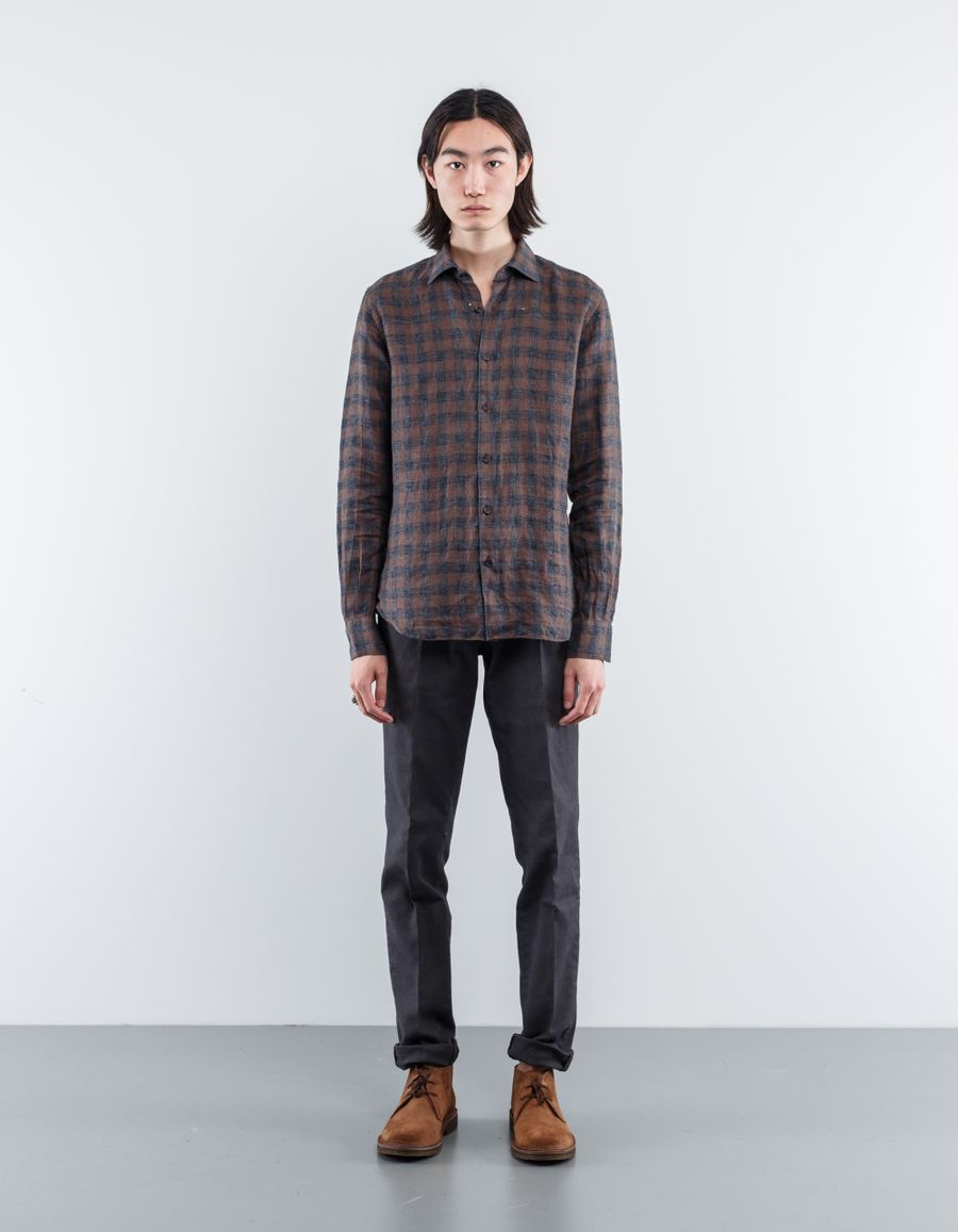 Nitty Gritty Washed Linen Flannel Shirt