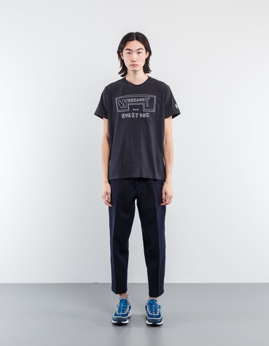 Engineered Garments  Print C/O Neck Pocket T-Shirt