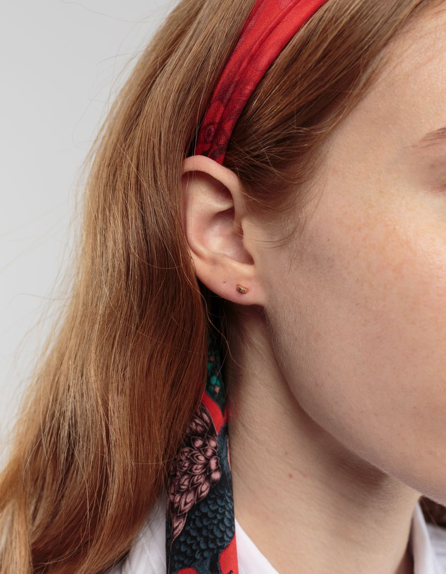 Quarry Jewelry Semi Stud Earring 14k Gold