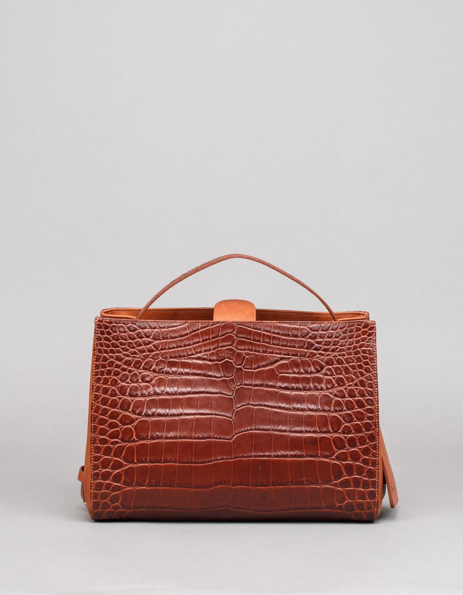 Little Liffner Crop Shopper Small Croc Emb.