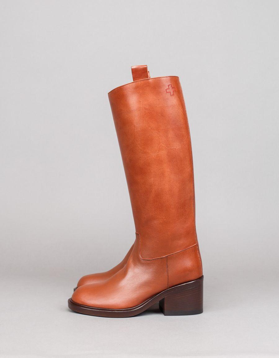 A.F.Vandevorst Leather Boot Sienna