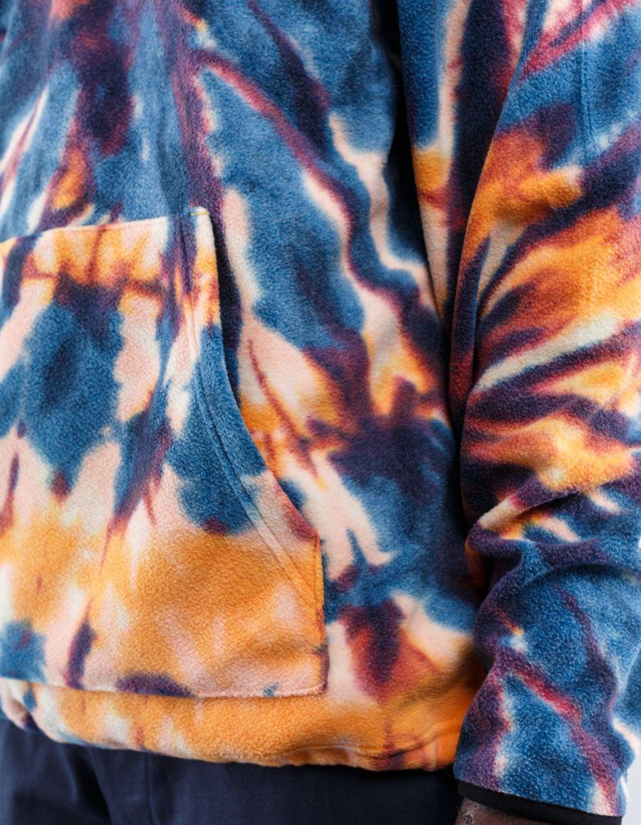 Stüssy - Tie Dye Polar Fleece Mock