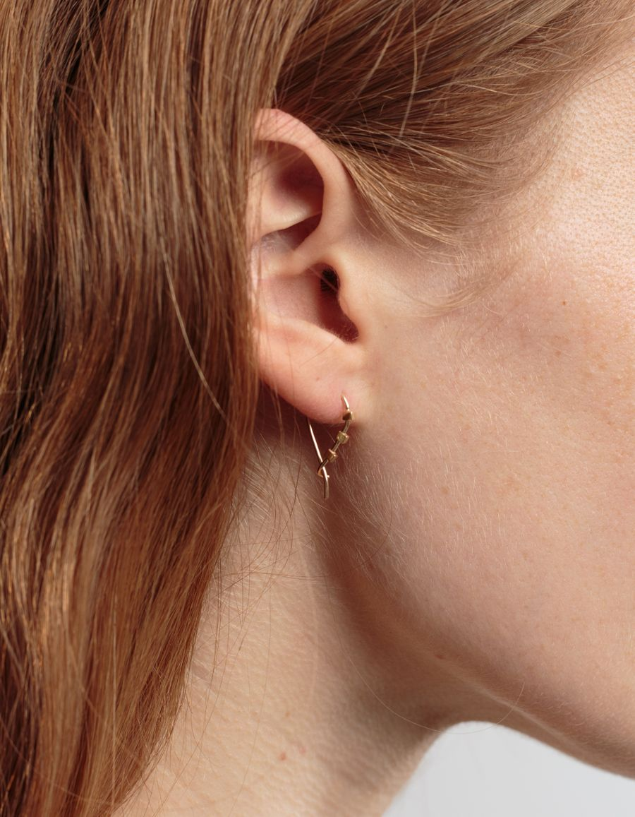 Quarry Jewelry Triptych Cube Earring 14k gold